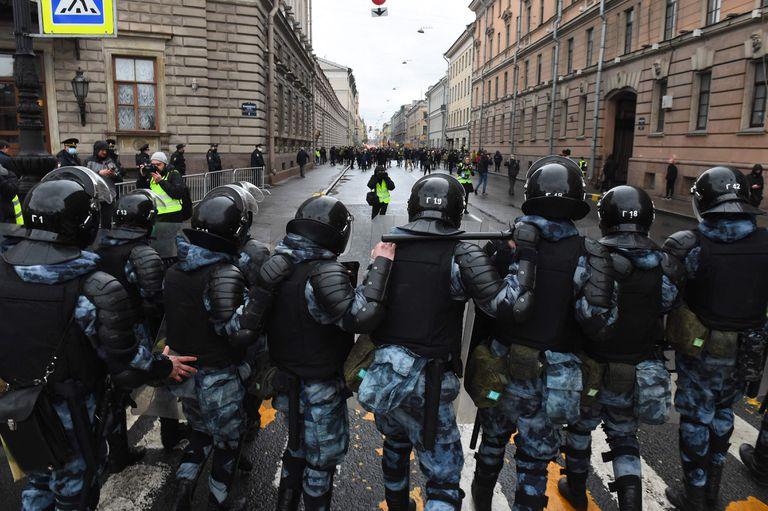 Protestas por Navalny en San Petersburgo
