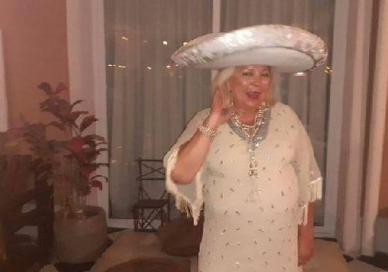 Elisa Carrió en el festejo de su cumpleaños