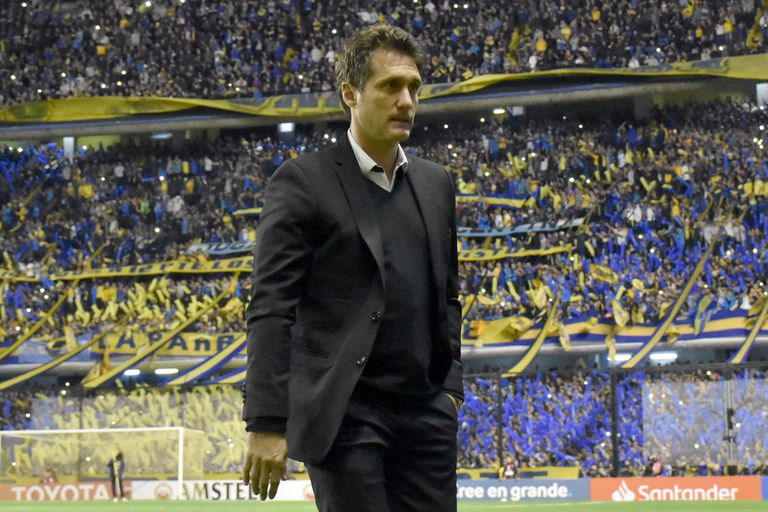 Guillermo Barros Schelotto siempre fue del gusto del presidente de Racing, Víctor Blanco