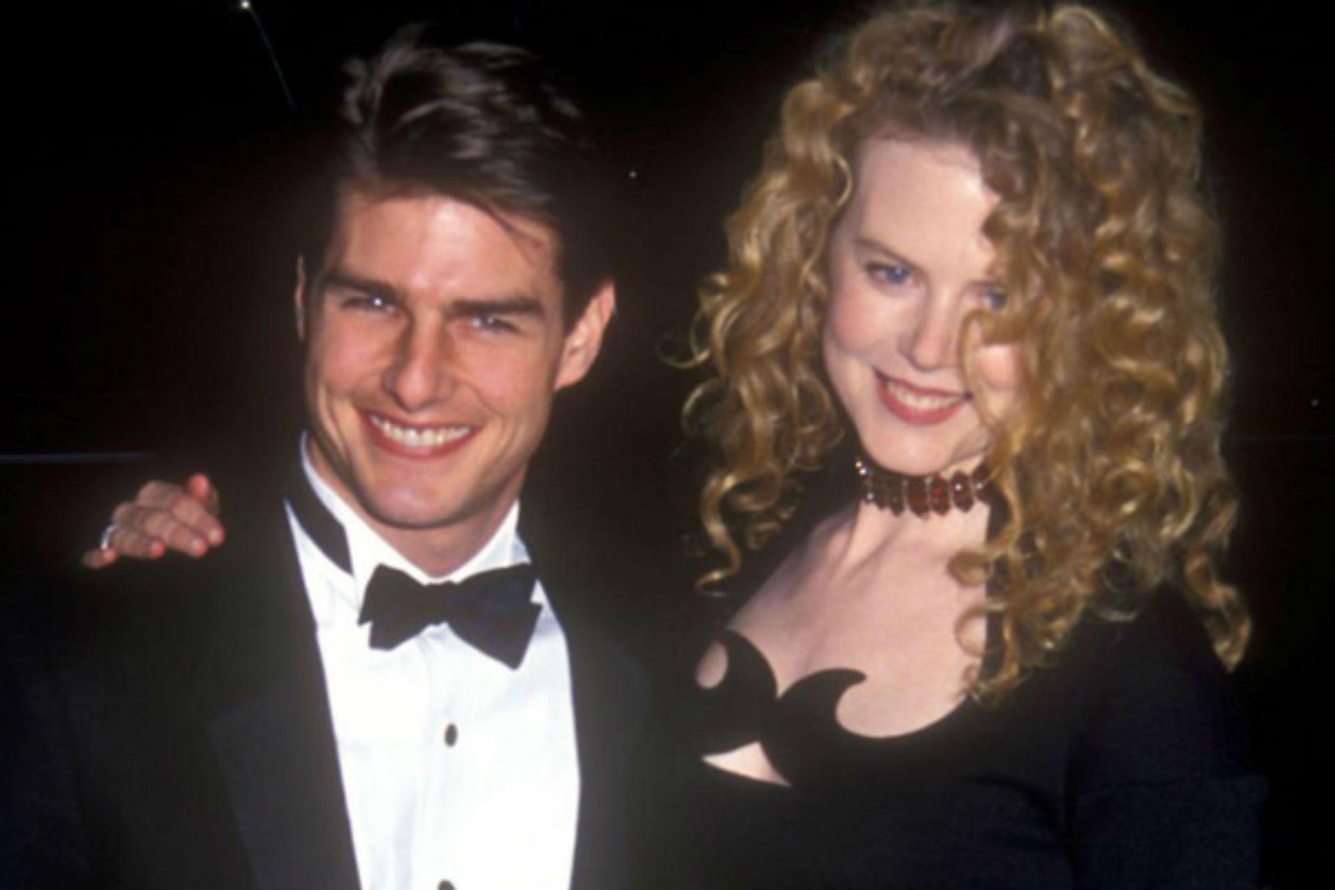 Nicole Kidman y Tom Cruise en las épocas de Días de trueno, cuando la actriz recién daba sus primeros pasos en la industria