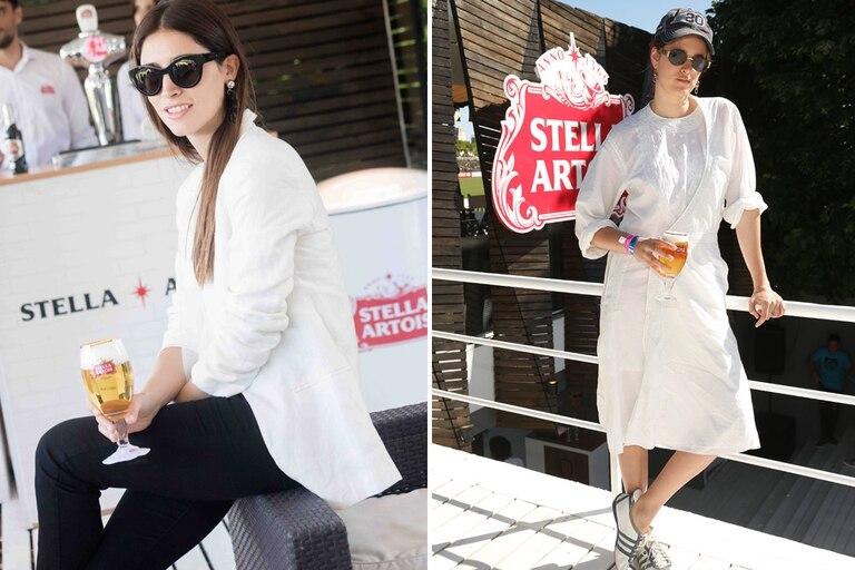 Agus Cordova y Bernardita Barreiro, en el espacio de Stella Artois en la primera fecha del polo