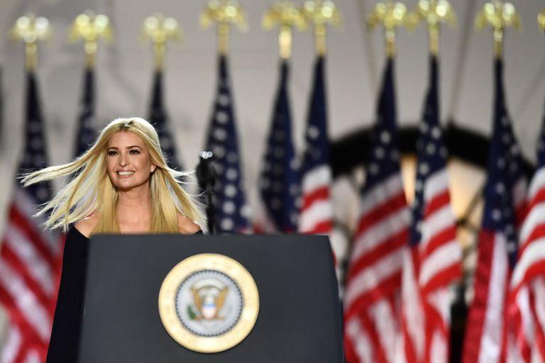 Ivanka Trump, hija de Donald Trump y asesora de la Casa Blanca, durante la convención republicana