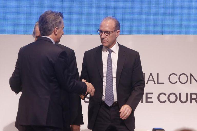 Macri y Rosenkrantz, poco después de que el juez asumiera como presidente de la Corte