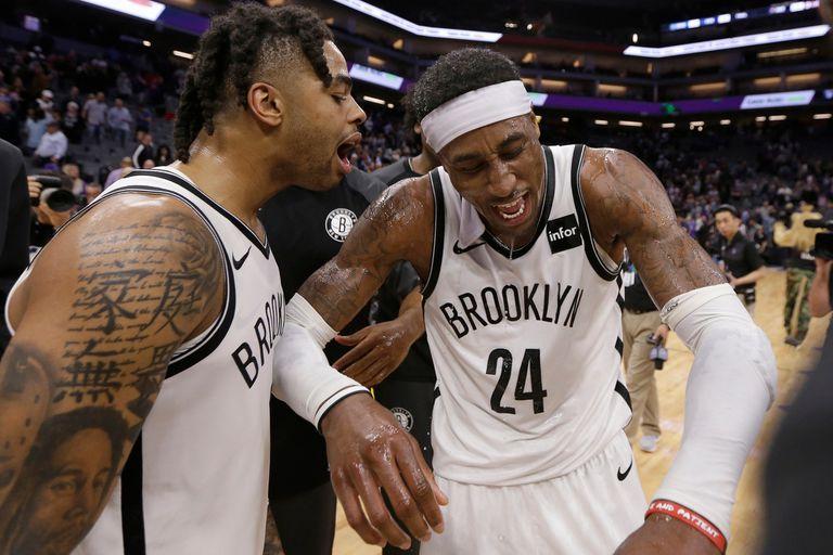 D´Angelo Russell y Rondae Hollis-Jefferson, dos de las figuras de la épica victoria de Brooklyn