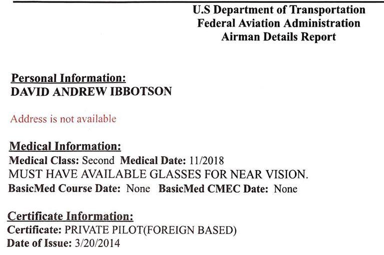 La licencia de Ibbotson, según los medios ingleses