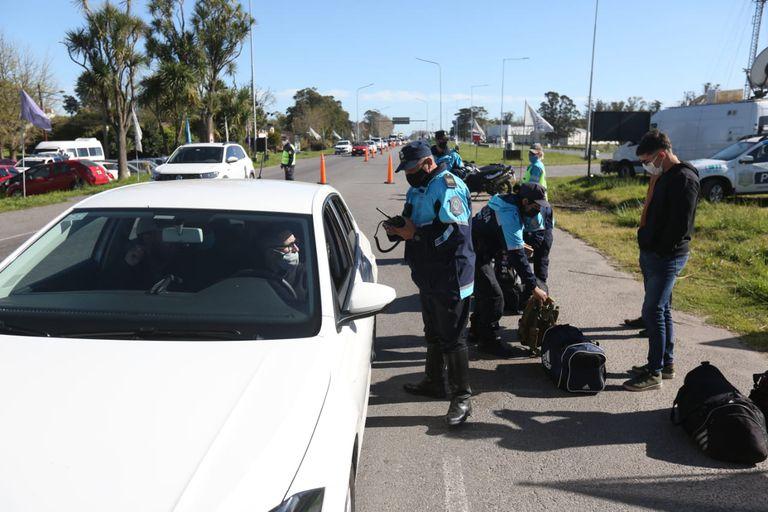 Controles a los vehículos que ingresan a Mar del Plata por la ruta 2