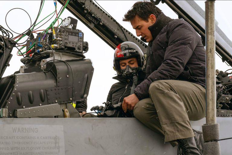 Nuevas imágenes de Top Gun: Maverick y el rol que tuvo Tom Cruise en el rodaje