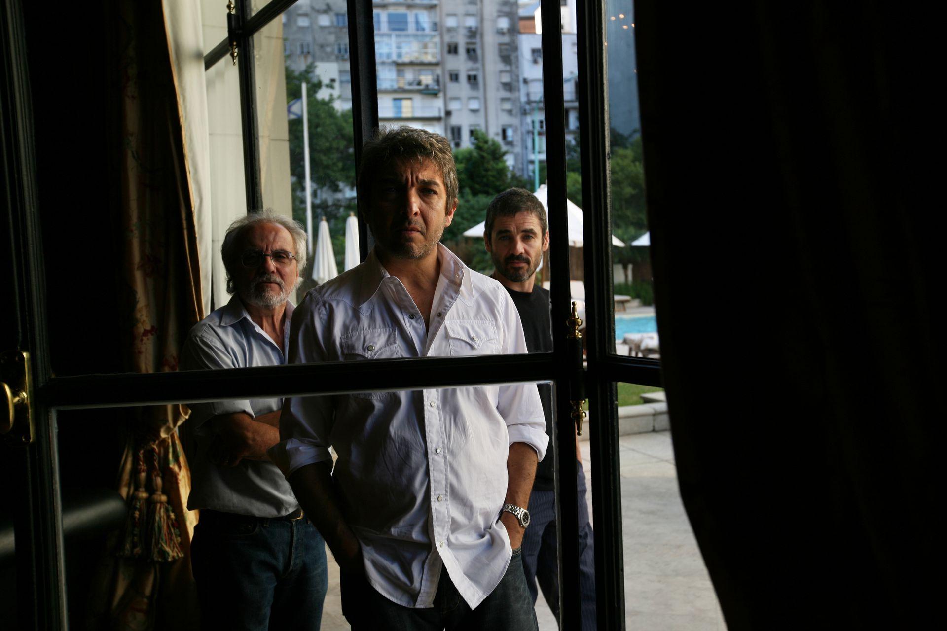 José Luis Mazza, Ricardo Darín y Germán Palacios cuando hicieron temporada en Mar del Plata