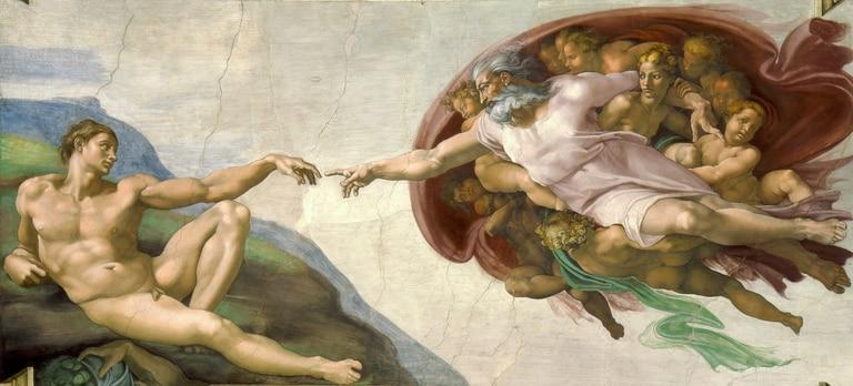 La Creación de Adán es uno de los frescos más reconocidos.