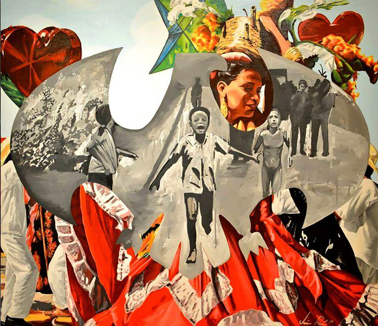Quimeras, pintura de Jaime Ruiz, uno de los artistas representados por diderotart.mx