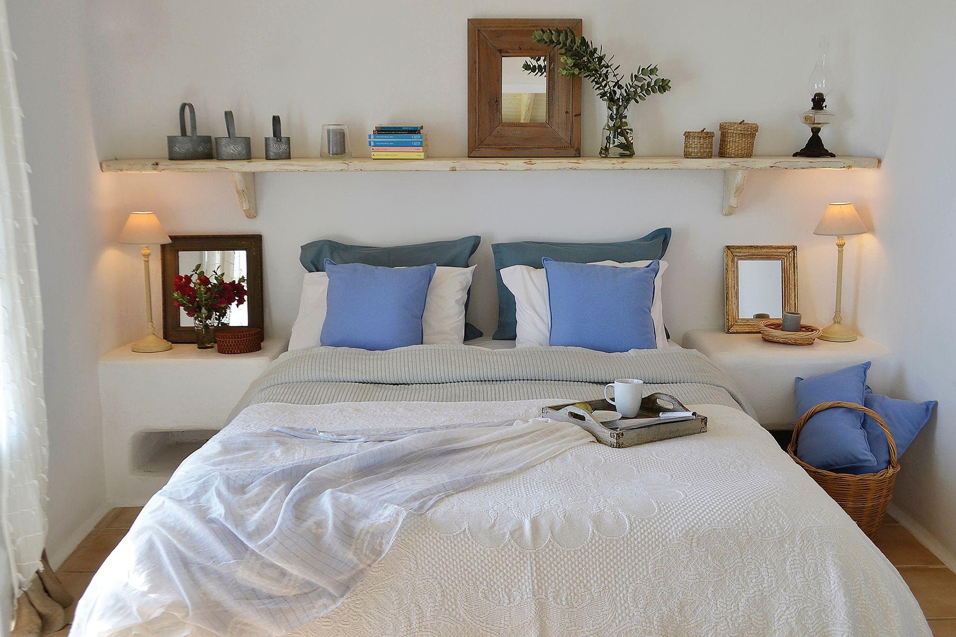 La misma idea de la suite se llevó a uno de los cuartos de los chicos, solo que jugando con la paleta del azul.