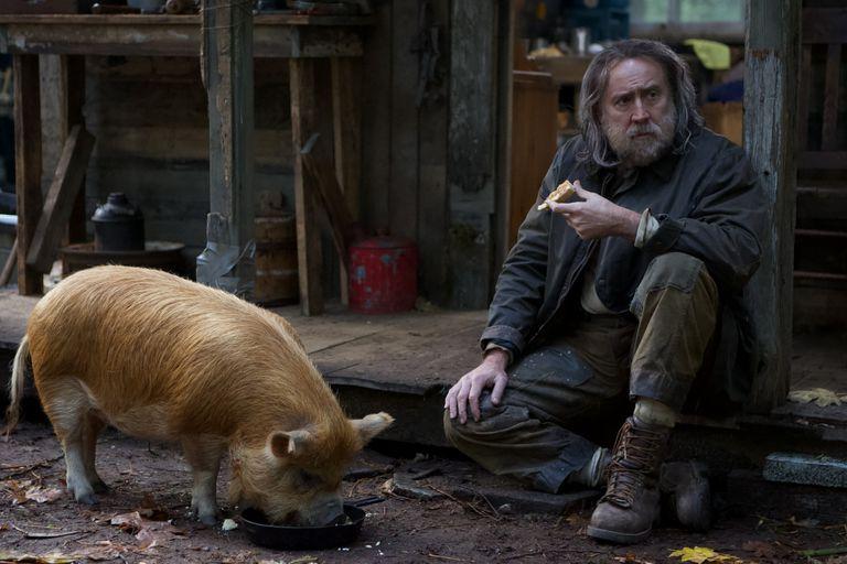 En 'Pig', Nicolas Cage pierde al único ser vivo que no dejó atrás: su cerdo