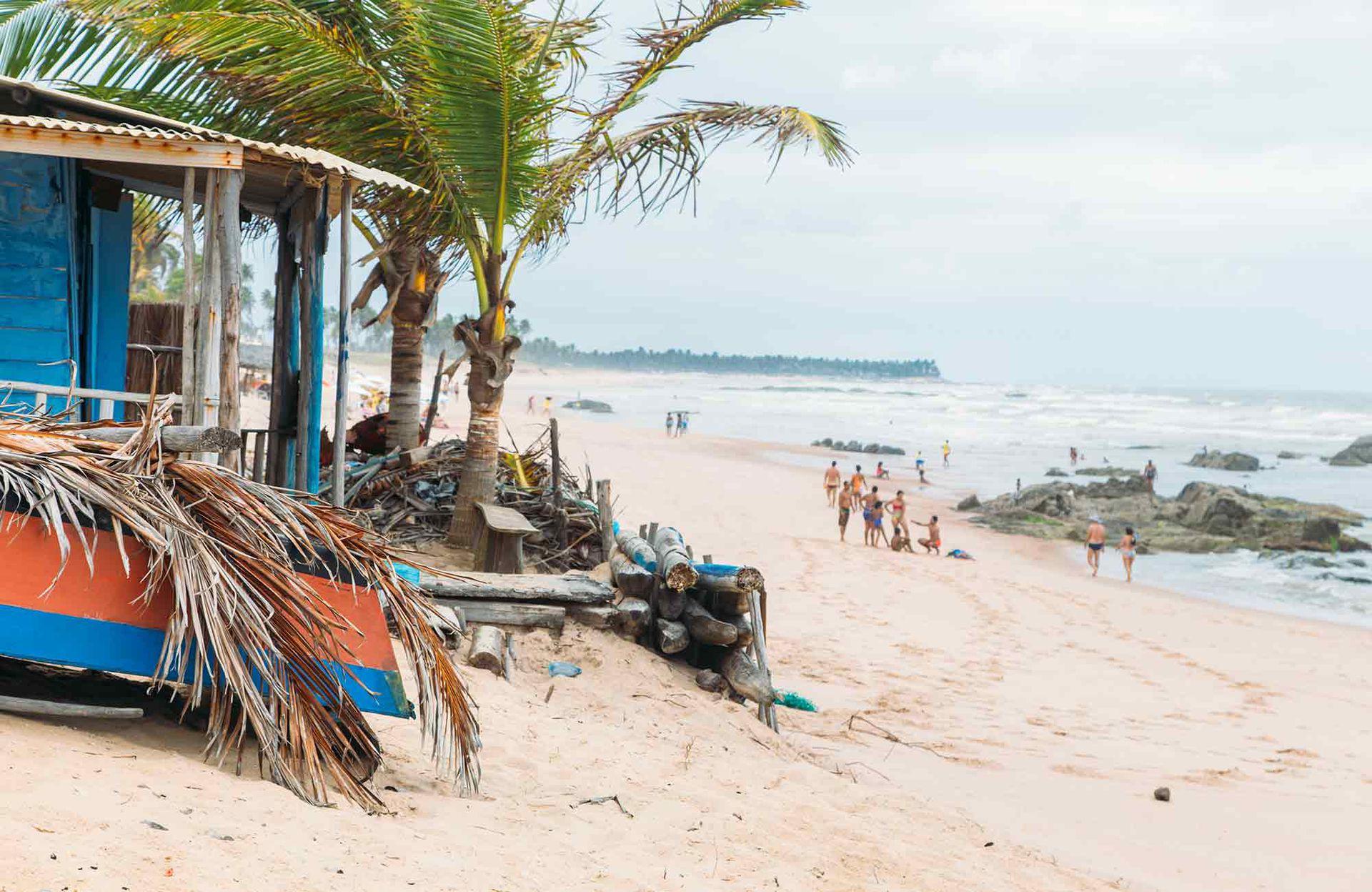 Las playa de Santo Antonio en el estado de Bahía, al norte de Brasil.