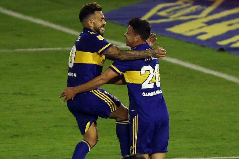 Partido clave. Soldano y Maroni, los goleadores de la victoria de Boca ante Huracán