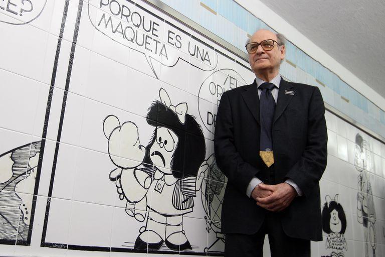 El humorista gráfico Quino, creador de Mafalda.
