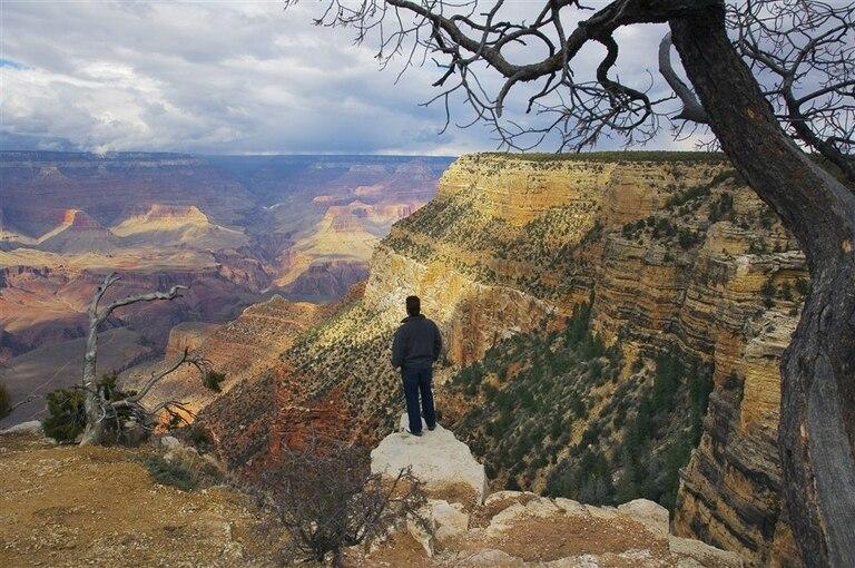 """""""Hombre en el Gran Cañón"""" (Arizona) (2007)"""