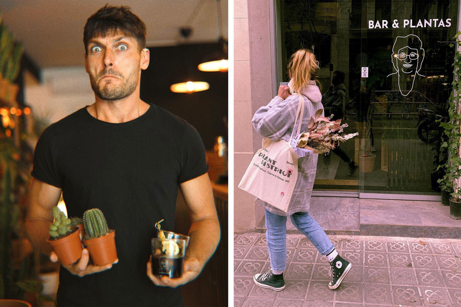 Joaquín y Noel, pasaron de recorrer el mundo a vender plantas y comida.