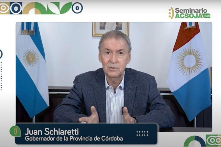 "El gobernador Juan Schiaretti pidió que ""desaparezcan"" las retenciones a la soja"