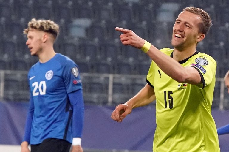 El delantero checo Tomas Soucek fue la gran figura de la jornada, autor de un Hat-Trick en la goleada de su selección ante Estonia por 6 a 2