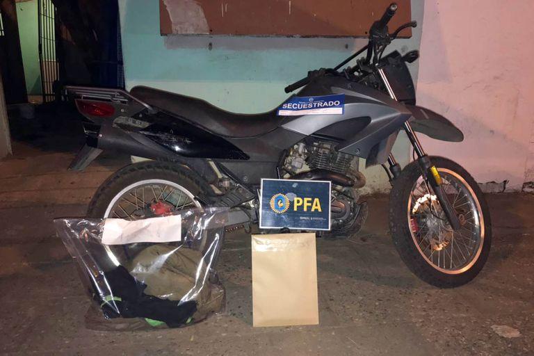 Fue incautada la motocicleta utilizada por el sicario que responde a la directivas de Guille Cantero