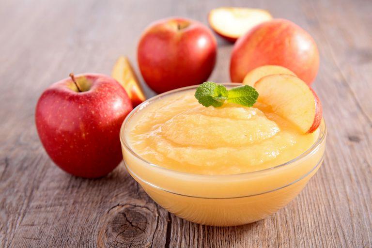 Puré de papas y manzanas