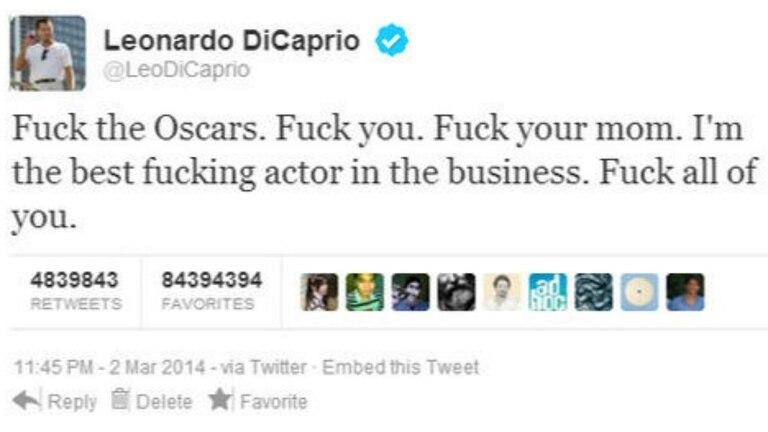 El falso tuit de DiCaprio
