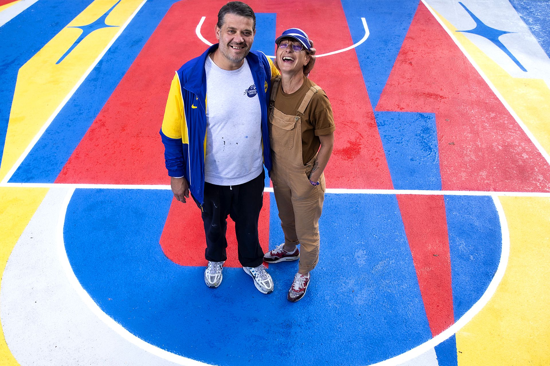Serge and valerie LOWRIDER at their artwork in Lausanne, Switzerland on August 8, 2021