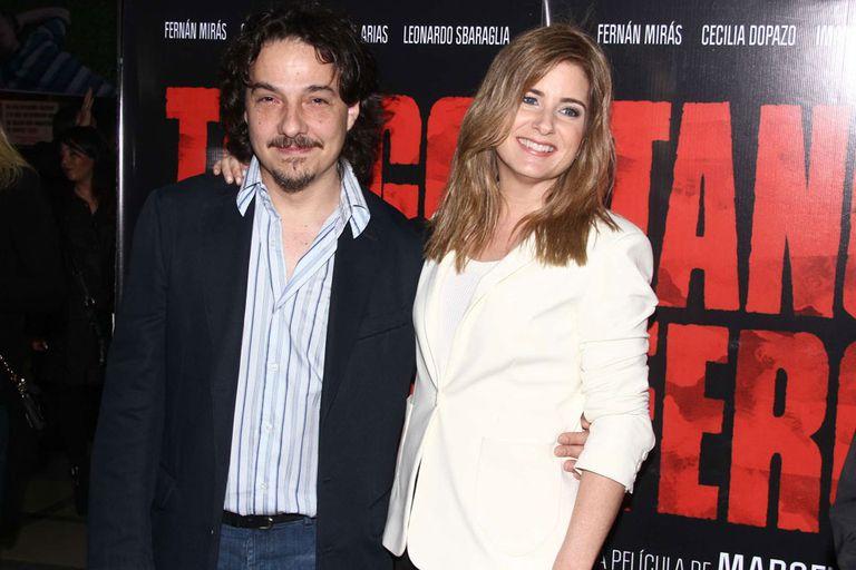Fernán Mirás y Cecilia Dopazo, los protagonistas de Tango Feroz: él interpretaba a Tanguito y ella a su novia, Mariana
