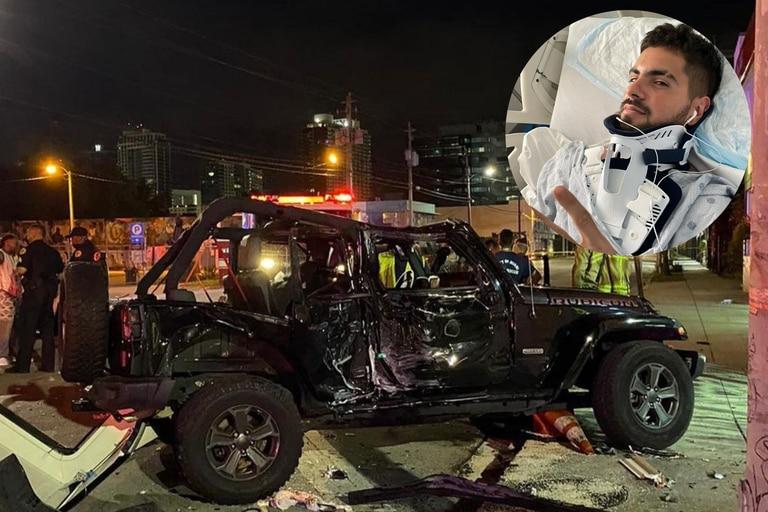 El cantante de Rombai sufrió un brutal accidente en Miami y se salvó de milagro