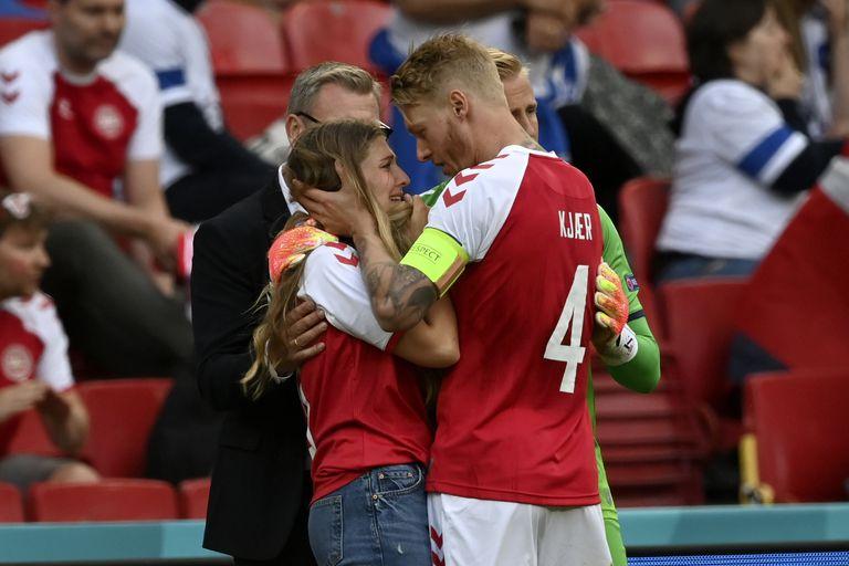 Eriksen: la angustia de su novia en la cancha y los ruegos de Lautaro, Dybala, Cristiano y Neymar