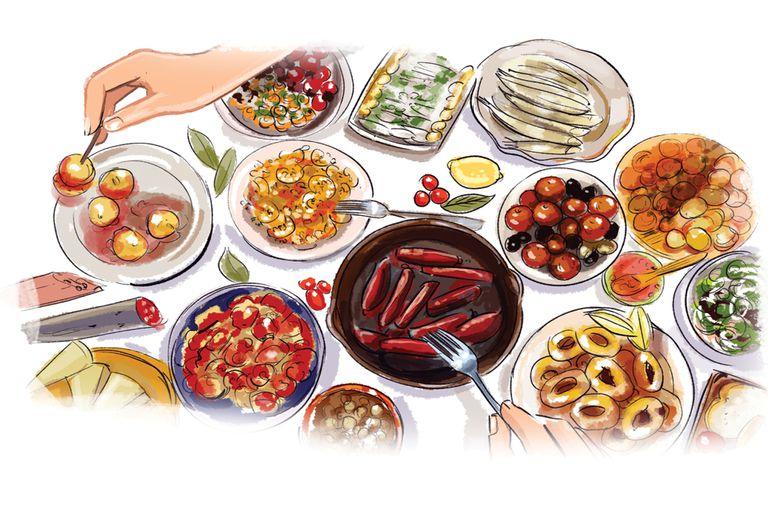 La costumbre española de picotear distintos platos también tiene sus adeptos aquí. Propuestas para disfrutar un buen tapeo de la mano de Club.