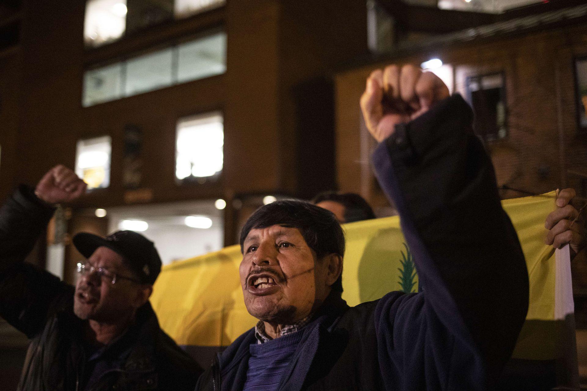 Manifestación pro-Maduro en Washington, D.C., EEUU.