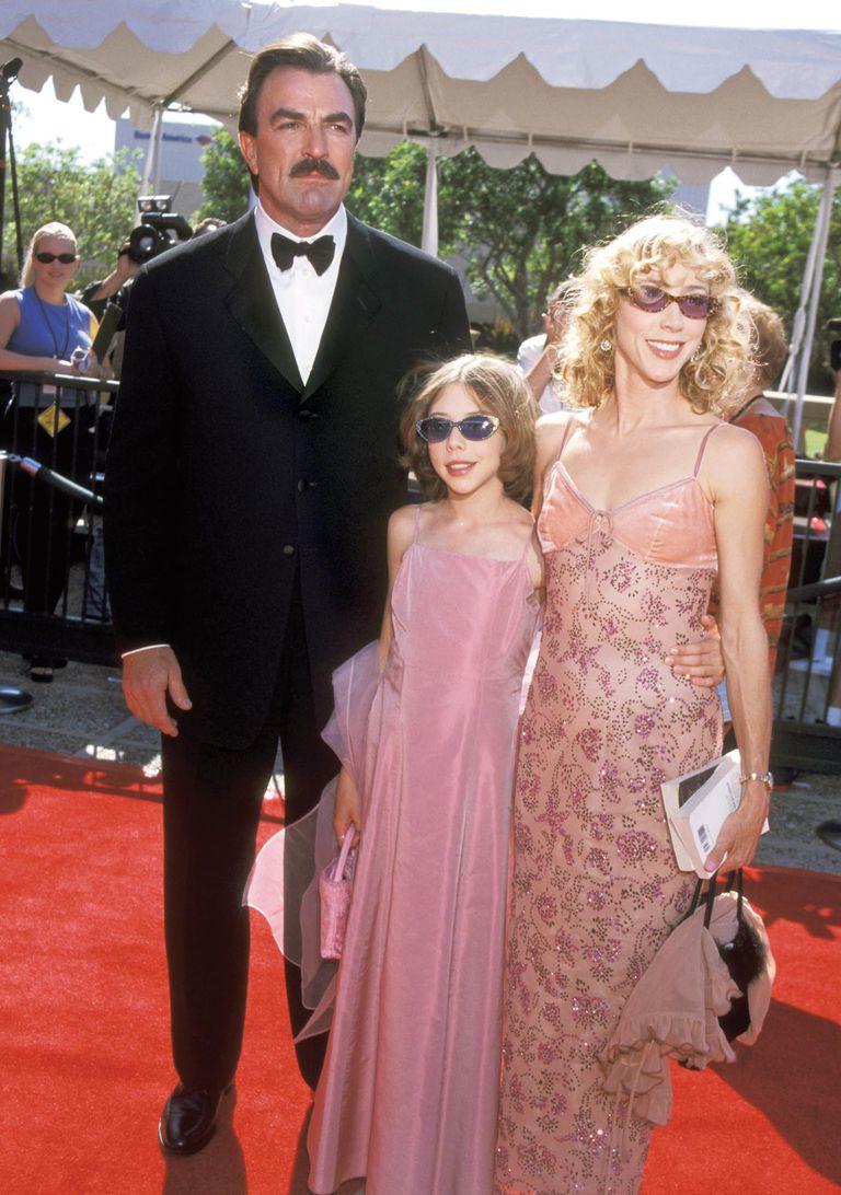 Un recuerdo de chica de Hanna junto a sus padres, Tom Selleck y Jillie Mack.