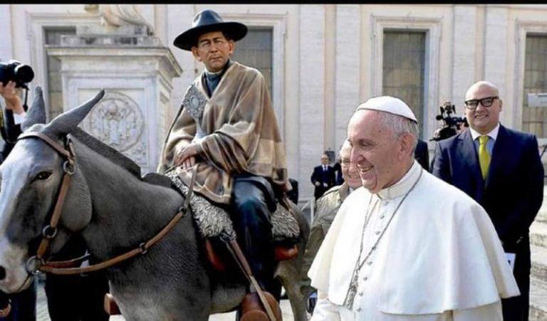 El Papa Francisco cuando santificó al cura Brochero en 2016