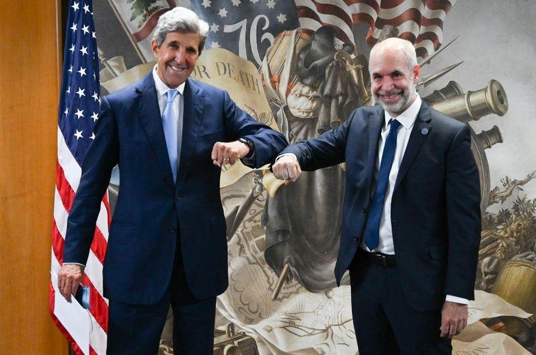 Larreta se reunió con John Kerry y lo invitó a una cumbre en Buenos Aires