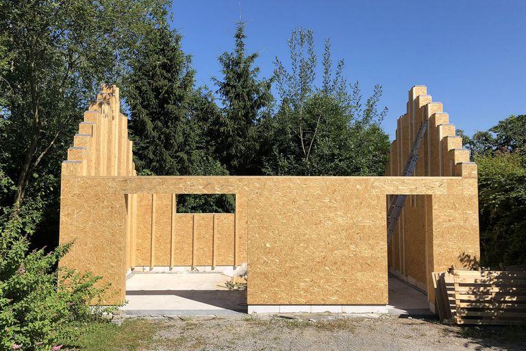 Una vista de la casa creada con el sistema de bloques tipo Lego de Gablok