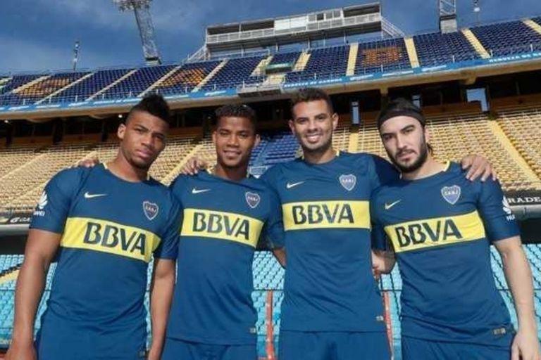 Fabra, Barrios, Cardona y Sebastián Pérez, el aporte colombiano en el Boca campeón