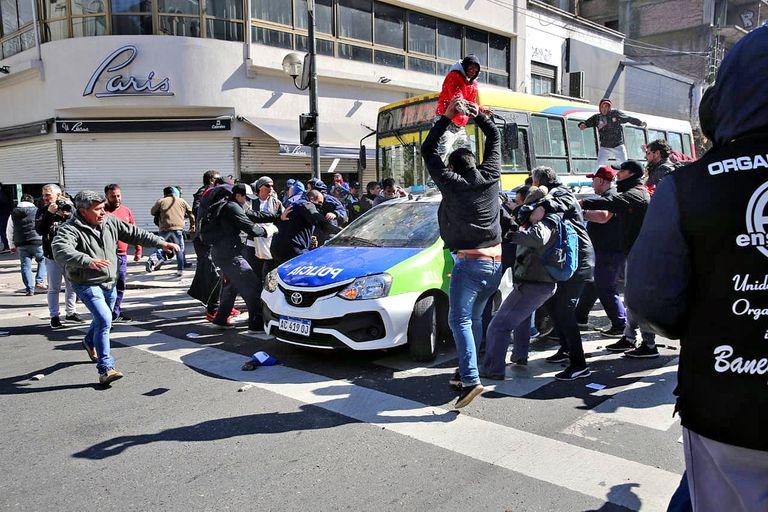 Los violentos incidentes se produjeron durante una manifestación