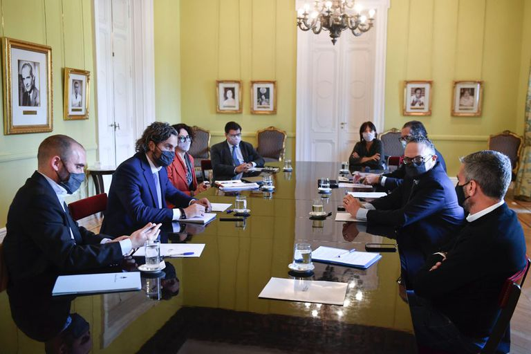 La reunión del Gabinete económico, que hoy sumó al ministro de Desarrollo Social, Juan Zabaleta.