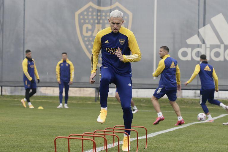 Briasco se entrena en el Complejo que Boca tiene en Ezeiza