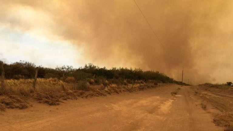 El fuego afecta zonas ganaderas