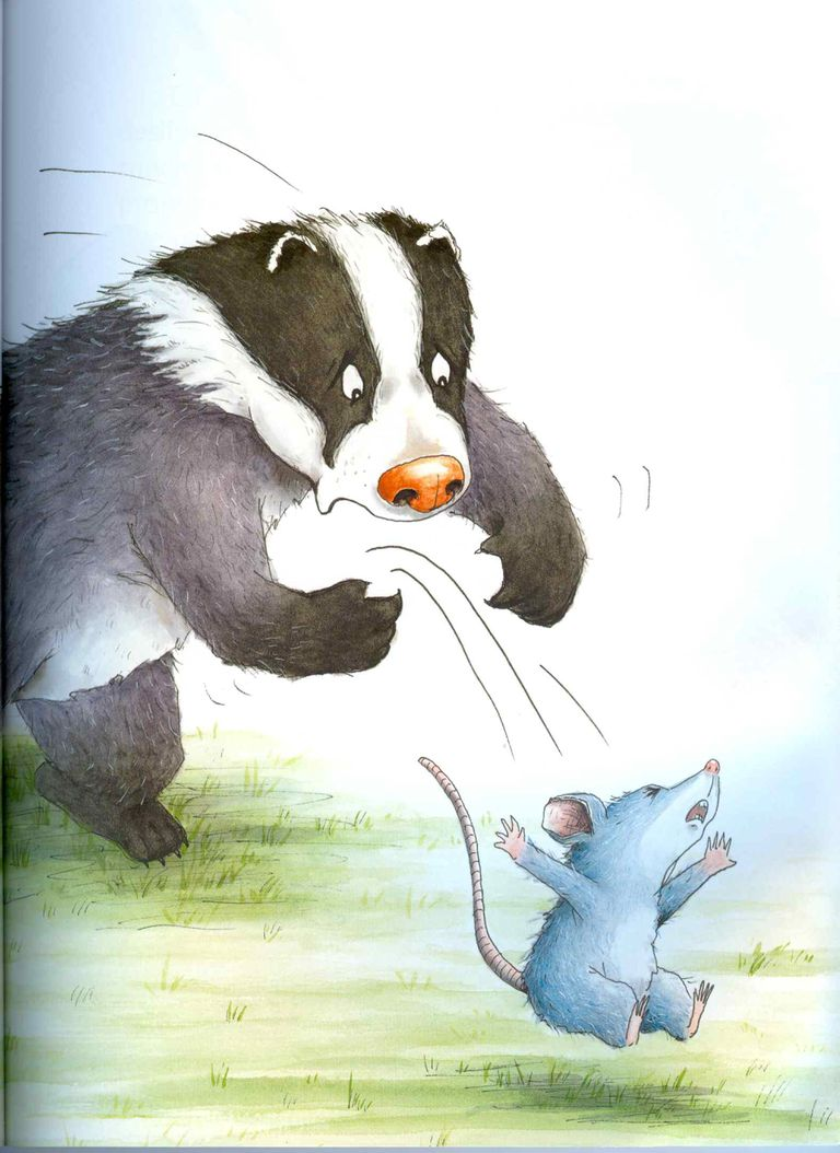 Ilustración de la japonesas Keiko Kasza ?para su libro Una cena elegante