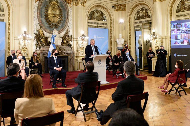 Alberto Fernández al presentar el proyecto de reforma judicial y la comisión de juristas
