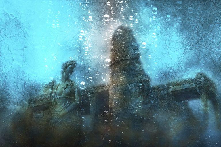 """Berlitz creía que la Atlántida era real y expuso una teoría que aseguraba que los atlantes habían experimentado con una tecnología que consistía en unos """"cristales de fuego"""" que lanzaban rayos; algo en ese ensayo científico no salió bien y los atlantes, al igual que la maravillosa isla donde vivían, terminaron en el fondo del mar"""