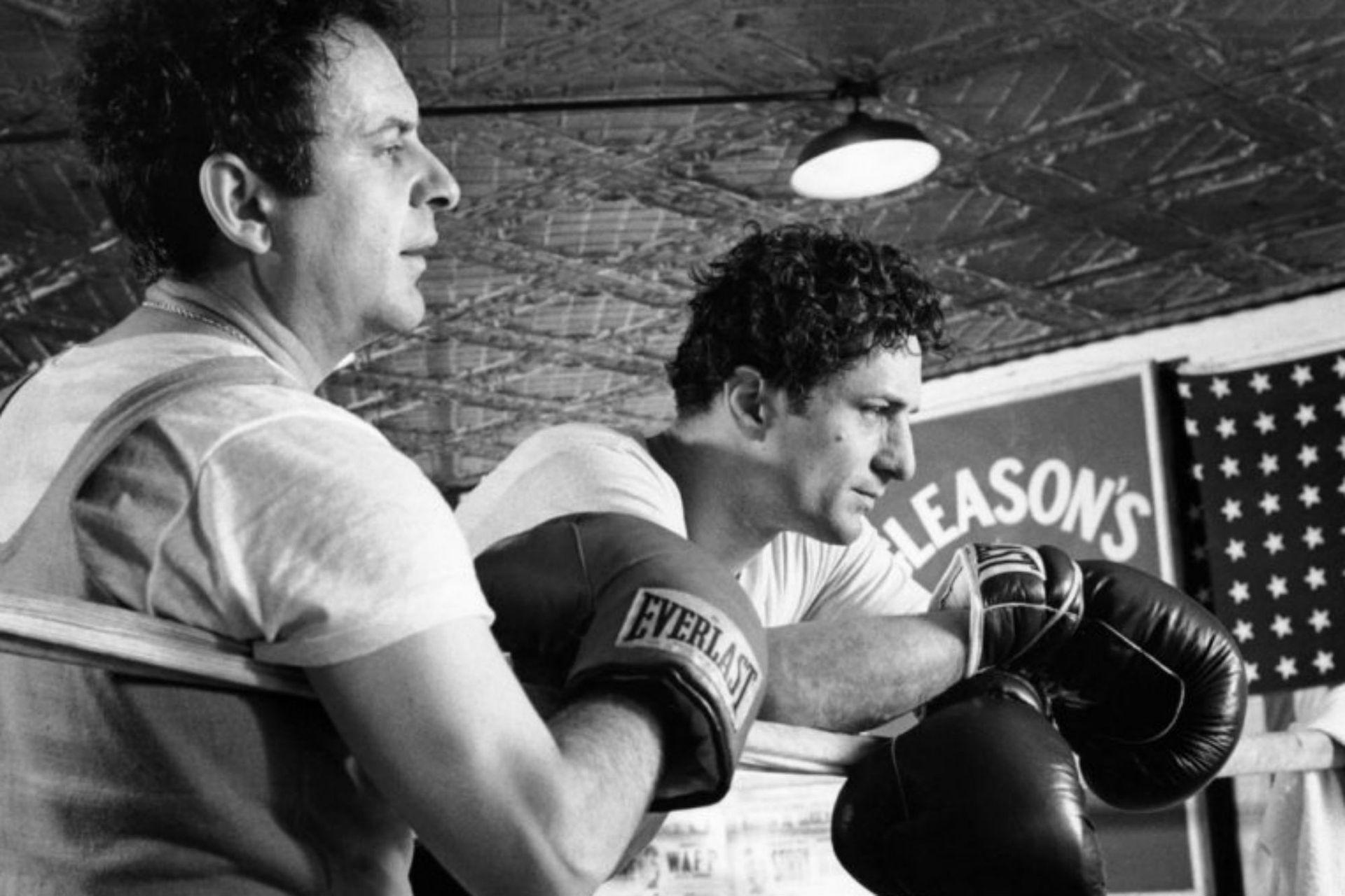 Joe Pesci y Robert De Niro como Joey y Jake LaMotta