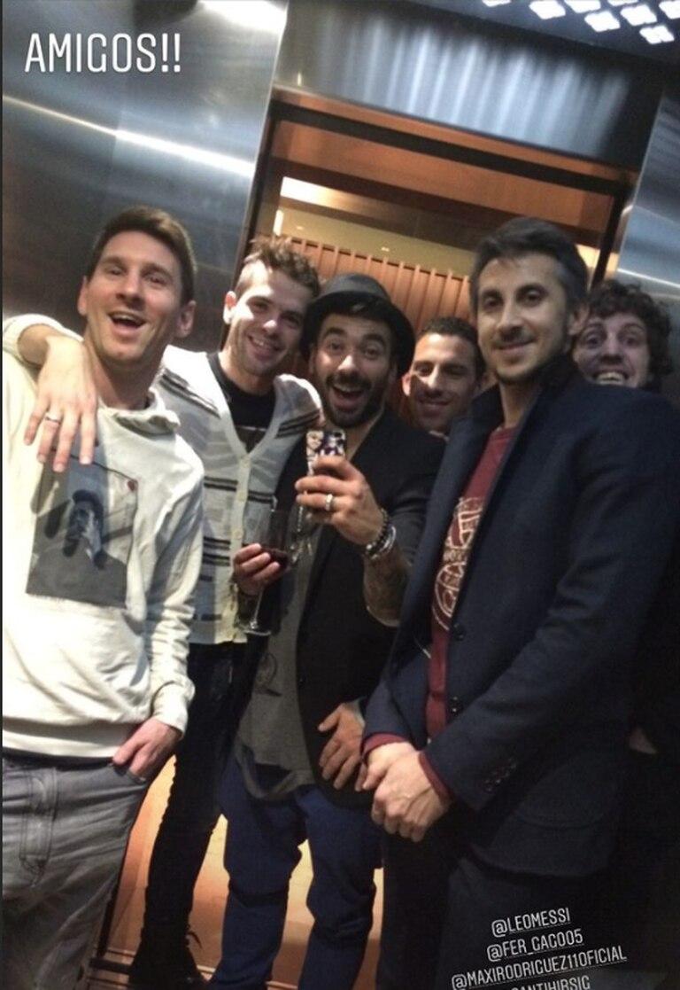 Messi, Gago, Lavezzi, Rodríguez y otros amigos del Pocho.