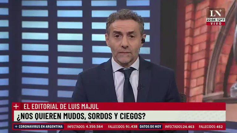 """Luis Majul: """"Intentan no hablar del asunto para que 'no exista'"""""""