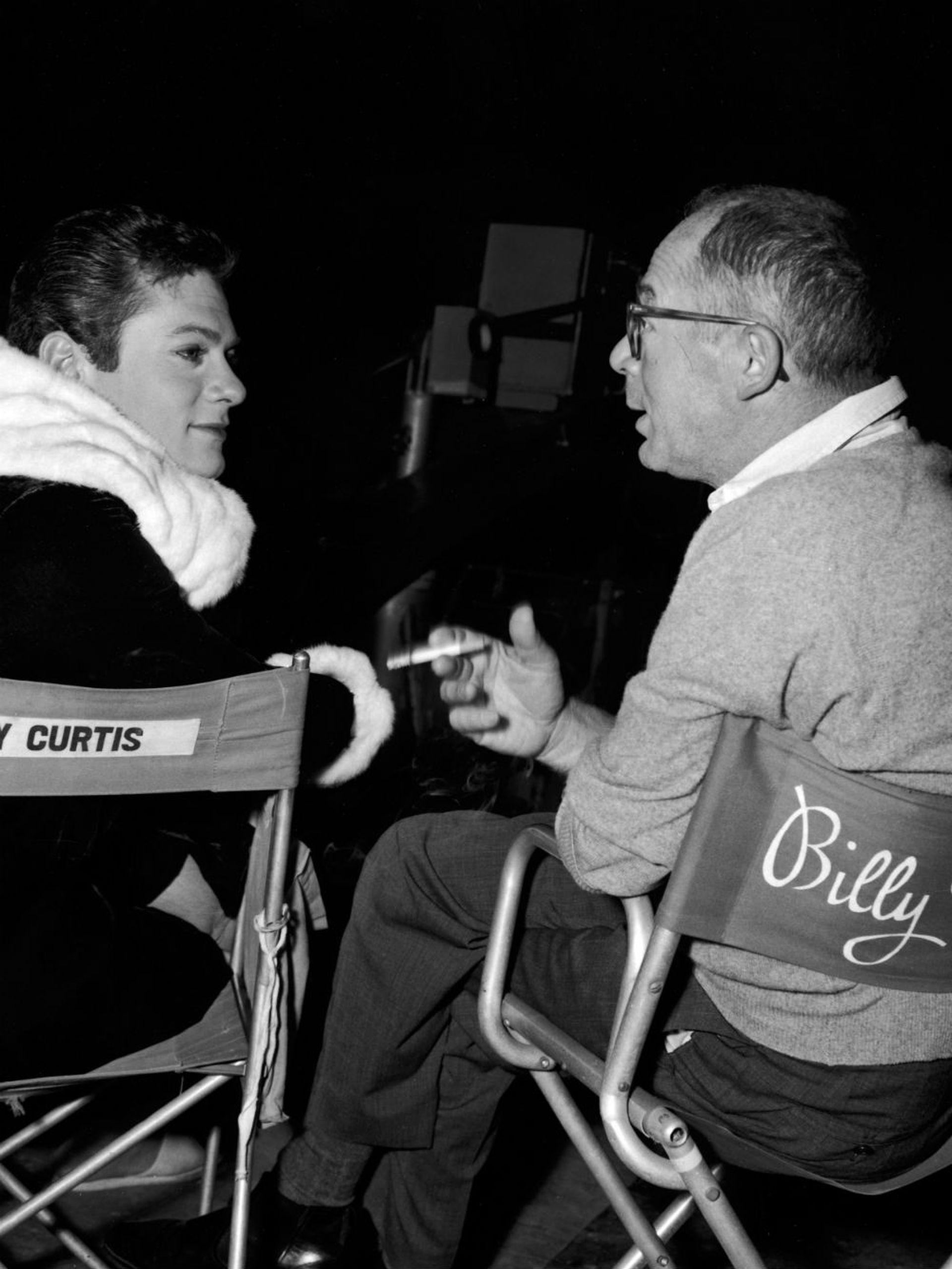 Billy Wilder y Tony Curtis en el rodaje de la emblemática comedia