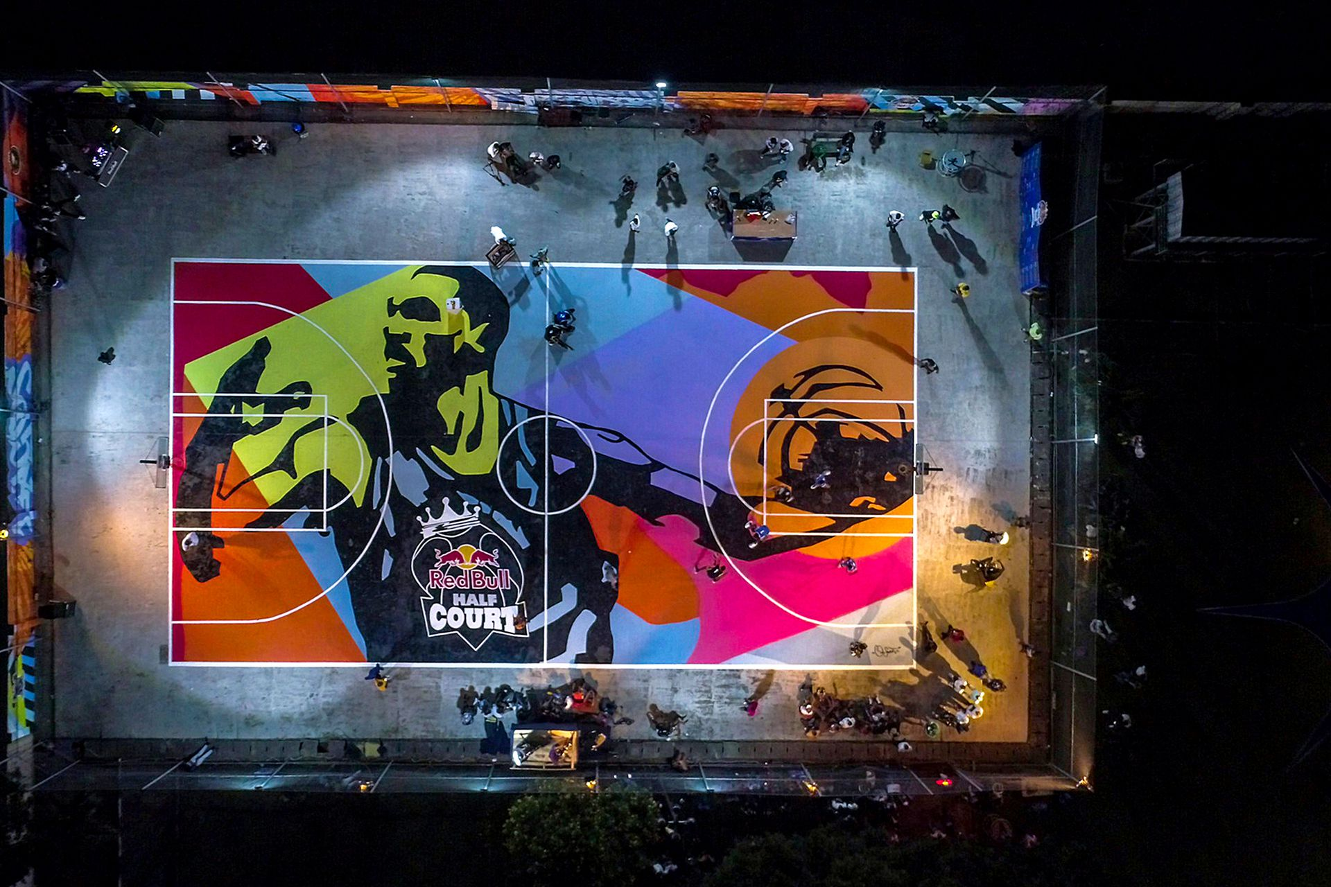 Ndubuisi Kanu Court, venue of the Red Bull Half Court final, in Lagos, Nigeria