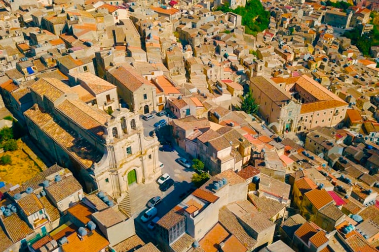 La ciudad de Mussomeli, en la región italiana de Sicilia